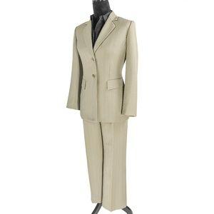 Kasper Striped Three Button Blazer Suit